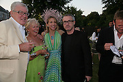 MR. AND MRS. FRANK DUNPHY, MAIA NORMAN AND DAMIEN HIRST, The Summer Party in association with Swarovski. Co-Chairs: Zaha Hadid and Dennis Hopper, Serpentine Gallery. London. 11 July 2007. <br />