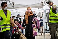ITALY, Pozzallo - Immigrants desembark in the port of Pozzallo (Sicily) from Italian Navy Sirio ship after being rescued at sea<br /> Pozzallo, Italia - 17 giugno 2014. Immigrati sbarcano dalla nave Sirio della Marina Militare Italiana dopo essere stati salvati in mare domenica sera. Nel porto di Pozzallo (Ragusa) sono sbaracati 279 migranti.<br /> Ph. Roberto Salomone