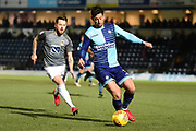 Wycombe Wanderers defender Joe Jacobson (3) on defensive duties during the EFL Sky Bet League 2 match between Wycombe Wanderers and Coventry City at Adams Park, High Wycombe, England on 27 February 2018. Picture by Dennis Goodwin.