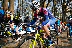 Maria Giulia Confalonieri (ITA) on Kemmelberg at Gent Wevelgem - Elite Women 2019, a 136.9 km road race from Ieper to Wevelgem, Belgium on March 31, 2019. Photo by Sean Robinson/velofocus.com