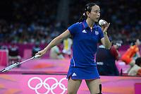 Pi Hongyan, France, Womens Snigles, Olympic Badminton London Wembley 2012