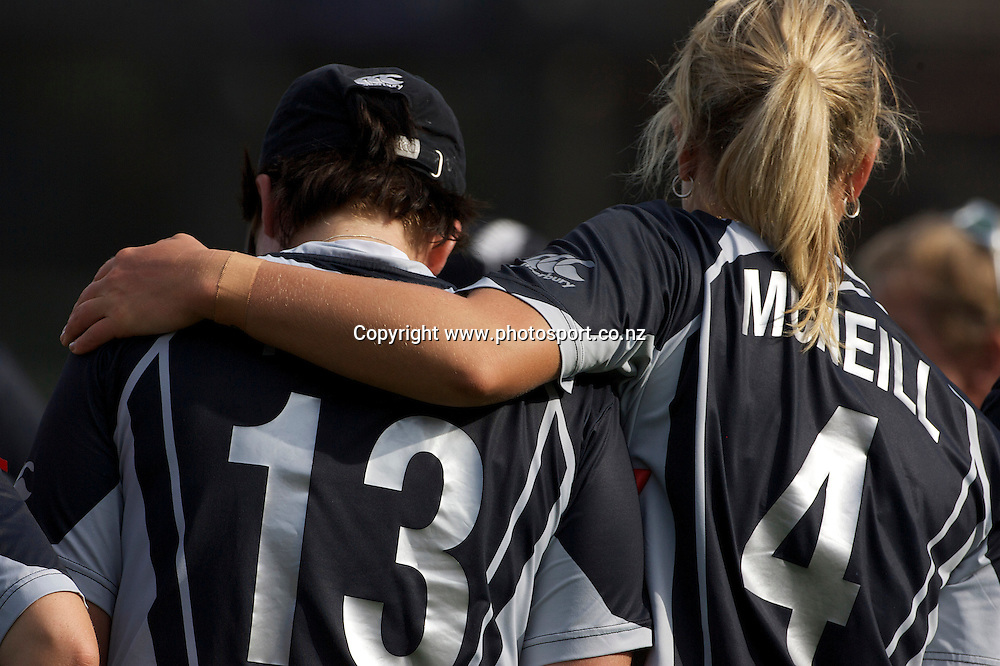 Sydney-22 March: New Zealand keeper Rachel Priest in tears after defeat during the ICC Women's World Cup Cricket final between New Zealand and England at North Sydney Oval, Sydney, Australia from March 22, 2009. England won the final by four wickets. Photo by Tim Clayton.