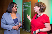 Diane Abbott MP chatting to Frances Crook The Howard League for Penal reform's Community Awards 2015 The Kings Fund, London, UK. All use must be credited © prisonimage.org