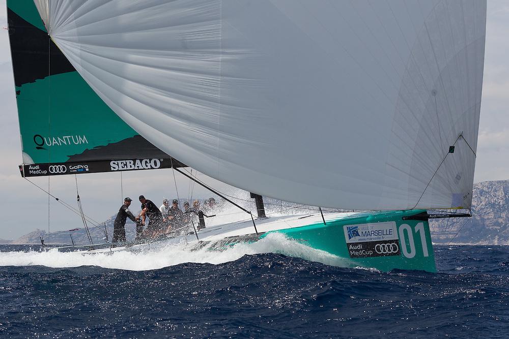 FRANCE, Marseille. 18th June 2011. AUDI MedCup Marseille Trophy. Costal Race. TP52, Quantum Racing.
