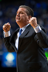 Kentucky head coach John Calipari shows frustrations in the first half.<br /> <br /> The University of Kentucky hosted the University of Georgia, Tuesday, Feb. 09, 2016 at Rupp Arena in Lexington .