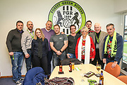 Guests enjoying the hospitality in a executive box during the EFL Sky Bet League 2 match between Forest Green Rovers and Scunthorpe United at the New Lawn, Forest Green, United Kingdom on 7 December 2019.