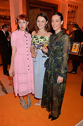 Left to right, PAULA GOLDSTEIN, AMBER ATHERTON and LAURA JACKSON at the Veuve Clicquot Business Woman Awards held at Claridge's, Brook Street, London on 11th May 2015.
