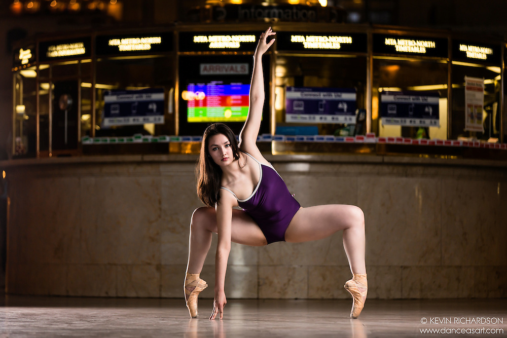 Dance As Art The New York City Photography Project Grand Central Series with dancer Madeline Kim