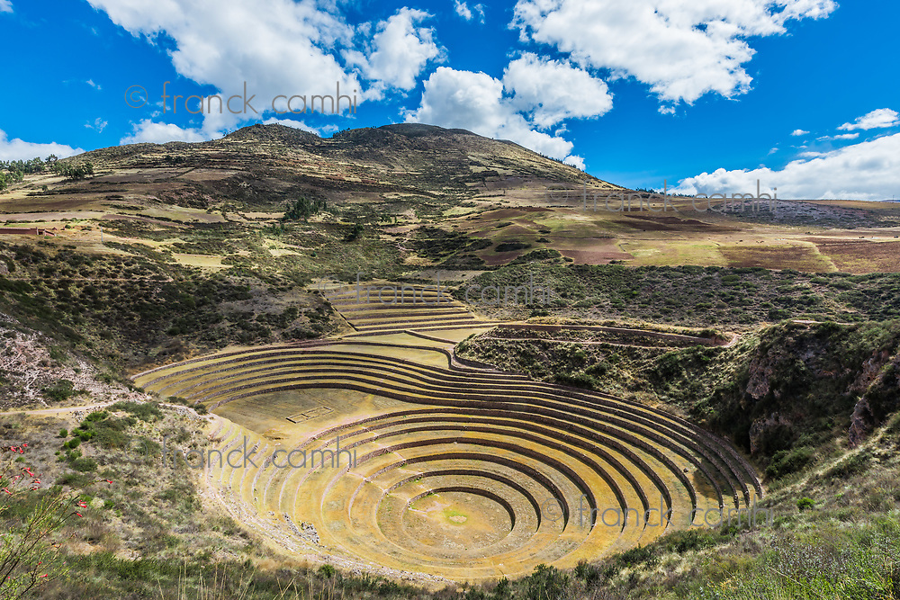 Moray, Incas ruins in the peruvian Andes at Cuzco Peru