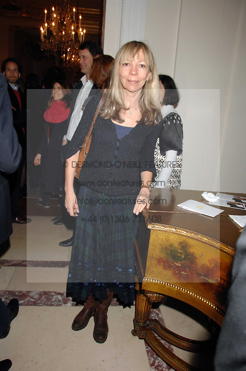 PENELOPE TREE at a party to celebrate the publication of The End of Sleep by Rowan Somerville held at the Egyptian Embassy, London on 27th March 2008.<br /><br />NON EXCLUSIVE - WORLD RIGHTS