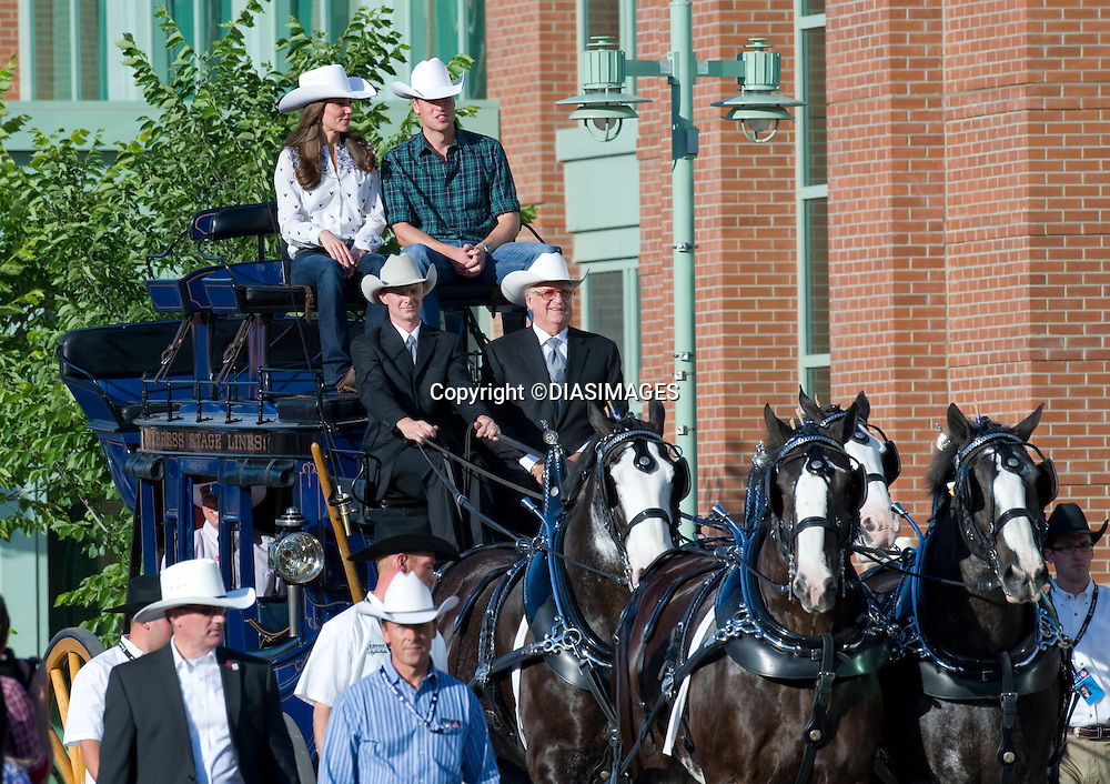 """PRINCE WILLIAM & KATE CANADA.watch a rodeo display and attend reception at the BMO Centre, Calgary_07/07/2011.Mandatory Credit Photo: ©Dias-DIASIMAGES. .**ALL FEES PAYABLE TO: """"NEWSPIX INTERNATIONAL""""**..IMMEDIATE CONFIRMATION OF USAGE REQUIRED:.DiasImages, 31a Chinnery Hill, Bishop's Stortford, ENGLAND CM23 3PS.Tel:+441279 324672  ; Fax: +441279656877.Mobile:  07775681153.e-mail: info@newspixinternational.co.uk"""