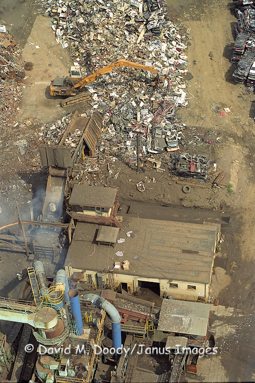 Aerial view: Scrap metal recycling facility NO PROPERTY RELEASE