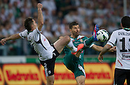 (L) Legia's Marek Saganowski fights for the ball with (R) Dalibor Stevanovic of Slask Wroclaw during soccer Polish Cup Final between Legia Warsaw and Slask Wroclaw at Pepsi Arena in Warsaw, Poland...Poland, Warsaw, May 08, 2013..Picture also available in RAW (NEF) or TIFF format on special request...For editorial use only. Any commercial or promotional use requires permission...Photo by © Adam Nurkiewicz / Mediasport