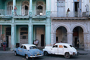 Dated car from the 1950's in a Havana street
