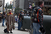 Street photos of New Yorkers watching the 2009 Veteran's Day Parade.