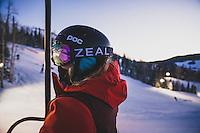 Brian Head night life. MacKenzie Ryan gets in a little night skiing, Brian Head Resrt, Utah.