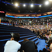 My vantage point for Michelle Obama's speech at the 2012 Democratic National Convention. Not too bad!