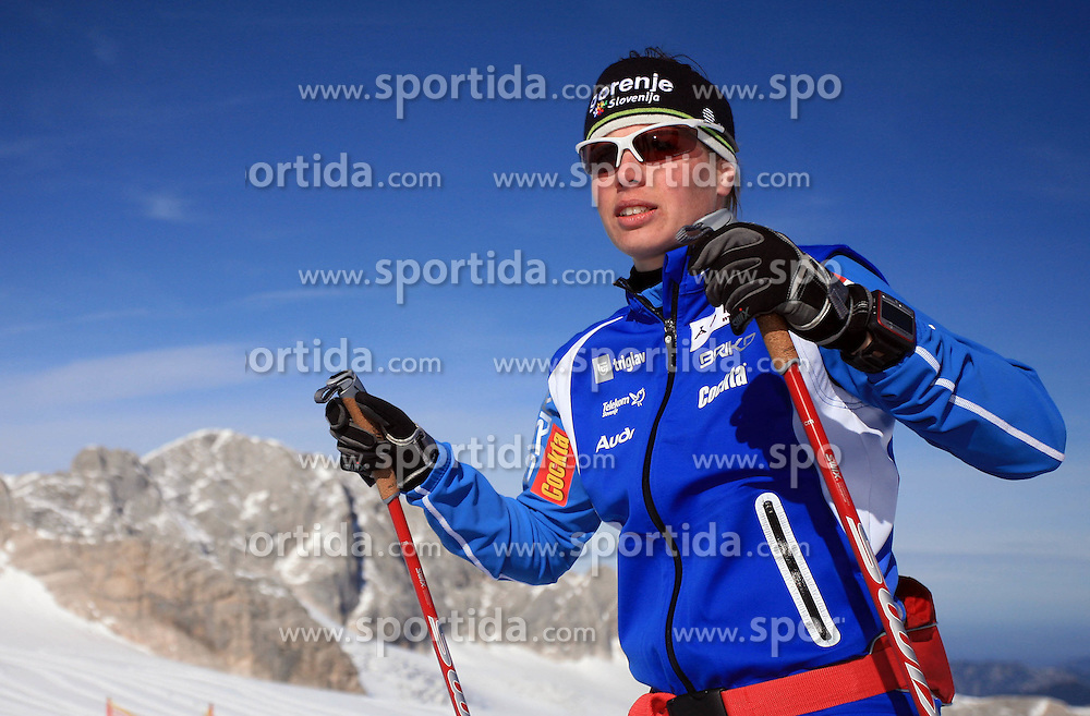 Vesna Fabjan at practice of Slovenian Cross country National team before new season 2008/2009, on October 22, 2008, glacier Dachstein, Ramsau, Austria. (Photo by Vid Ponikvar / Sportida).