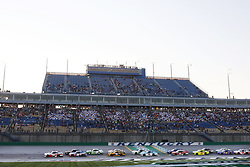 July 13, 2018 - Sparta, Kentucky, United States of America - Cole Custer (00) and Justin Allgaier (7) lead the field to the start of the Alsco 300 at Kentucky Speedway in Sparta, Kentucky. (Credit Image: © Chris Owens Asp Inc/ASP via ZUMA Wire)