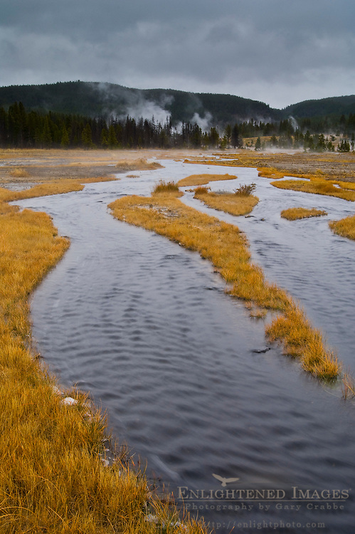 Tangled Creek, geothermal stream near Firehole Lake, Yellowstone National Park, Wyoming