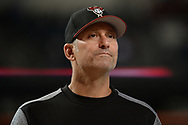 PHOENIX, AZ - AUGUST 10:  Torey Lovullo #17 of the Arizona Diamondbacks looks on during batting practice for the MLB game against the Los Angeles Dodgers at Chase Field on August 10, 2017 in Phoenix, Arizona.  (Photo by Jennifer Stewart/Getty Images)