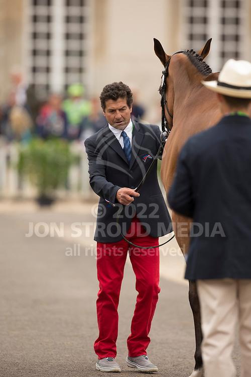 Jean Teulere, (FRA), Matelot du Grand Val - First Horse Inspection  - Alltech FEI World Equestrian Games&trade; 2014 - Normandy, France.<br /> &copy; Hippo Foto Team - Dirk Caremans<br /> 25/06/14