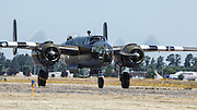 "North American B-25 Mitchell, ""Grumpy"" taxiing at Warbirds Over the West."