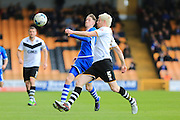 Joe Bunney, Ryan McGivern during the Sky Bet League 1 match between Port Vale and Rochdale at Vale Park, Burslem, England on 23 April 2016. Photo by Daniel Youngs.
