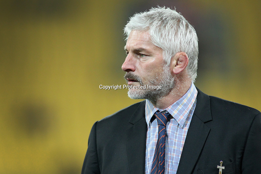Crusaders coach Todd Blackadder during the Round 17 Super Rugby match, between the Hurricanes & Crusaders. Westpac Stadium, Wellington. 28 June 2014. Photo.: Grant Down / www.photosport.co.nz