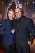 HILVERSUM, THE NETHERLANDS. 2017, MARCH 22. Tony Neef en Benny Mizrahi bij de Nederlandse premiere van Beauty and the Beast in Vue Cinema Hilversum.