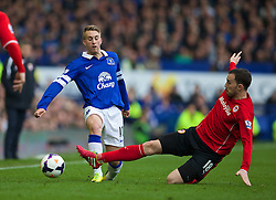 15.03.2014, Goodison Park, Liverpool, ENG, Premier League, FC Everton vs Cardiff City, 30. Runde, im Bild Everton's Gerard Deulofeu, action against Cardiff City's Jordon Mutch // during the English Premier League 30th round match between Everton FC and Cardiff City at the Goodison Park in Liverpool, Great Britain on 2014/03/15. EXPA Pictures &copy; 2014, PhotoCredit: EXPA/ Propagandaphoto/ David Rawcliffe<br /> <br /> *****ATTENTION - OUT of ENG, GBR*****