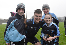 Westport&rsquo;s fans Sophie Scahill, Ashling Duffy and Maya O&rsquo;Toole celebrate with Westport goalkeeper Patrick O&rsquo;Malley .<br />