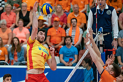 09-06-2019 NED: Golden League Netherlands - Spain, Koog aan de Zaan<br /> Fourth match poule B - The Dutch beat Spain again in five sets in the European Golden League / Miguel Angel Fornes #14 of Spain