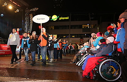 10.01.2016, Schladming, AUT, Special Olympics Pre-Games in Graz-Schladming-Ramsau, Eröffnungsfeier im WM-Park Planai, im Bild der Einmarsch der Nationen, Athleten aus Kärnten // athletes from Carinthia during the opening ceremony of the Special Olympics Pre-Games in Schladming, Austria on 2016/01/10. EXPA Pictures © 2016, PhotoCredit: EXPA / Martin Huber