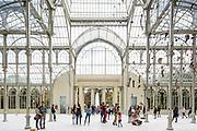 Crystal Palace Interior, Madrid | <br /> Architect: Ricardo Vel&aacute;zquez Bosco