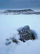 Hverfjall mountain in north-east Iceland,
