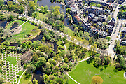 Nederland, Noord-Holland, Amsterdam, 09-04-2014; Amsterdam-Zuid,  Vondelpark ter hoogte van Emmalaan.<br /> Vondel park, Amsterdam South.<br /> luchtfoto (toeslag op standard tarieven);<br /> aerial photo (additional fee required);<br /> copyright foto/photo Siebe Swart