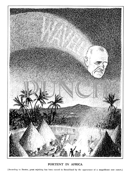 Portent in Africa [According to Reuter, great rejoicing has been caused in Somaliland by the appearance of a magnificent new comet.]