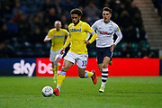 Leeds United forward Tyler Roberts (11)  during the EFL Sky Bet Championship match between Preston North End and Leeds United at Deepdale, Preston, England on 9 April 2019.