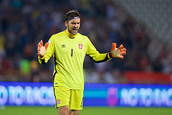BELGRADE, SERBIA - Sunday, June 11, 2017: Serbia's goalkeeper Vladimir Stojkovic during the 2018 FIFA World Cup Qualifying Group D match between Wales and Serbia at the Red Star Stadium. (Pic by David Rawcliffe/Propaganda)