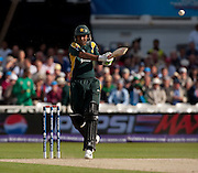 Shoaib Malik bats during the ICC World Twenty20 Cup semi-final between South Africa and Pakistan at Trent Bridge. Photo © Graham Morris (Tel: +44(0)20 8969 4192 Email: sales@cricketpix.com)