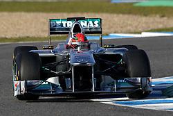 12.02.2011, Street Circuit. Jerez, ESP, Formel 1 Test 2 Valencia 2011,  im Bild Michael Schumacher (GER), Mercedes GP . EXPA Pictures © 2011, PhotoCredit: EXPA/ nph/   poleposition.at  //    **** only for AUT  & SLO ****