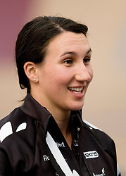 Katie Schofield after being named in the  team for the UCI World Track Cycling Championships, Invercargill Velodrome, Invercargill, New Zealand, Wednesday, March 21 2012. Credit:SNPA / Dianne Manson