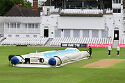 Showers stop play during the Bob Willis Trophy match between Nottinghamshire County Cricket Club and Derbyshire County Cricket Club at Trent Bridge, Nottingham, United Kingdon on 4 August 2020.