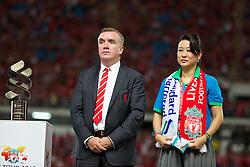 BANGKOK, THAILAND - Sunday, July 28, 2013: Liverpool's Managing Director Ian Ayre during a preseason friendly match against Thailand at the Rajamangala National Stadium. (Pic by David Rawcliffe/Propaganda)