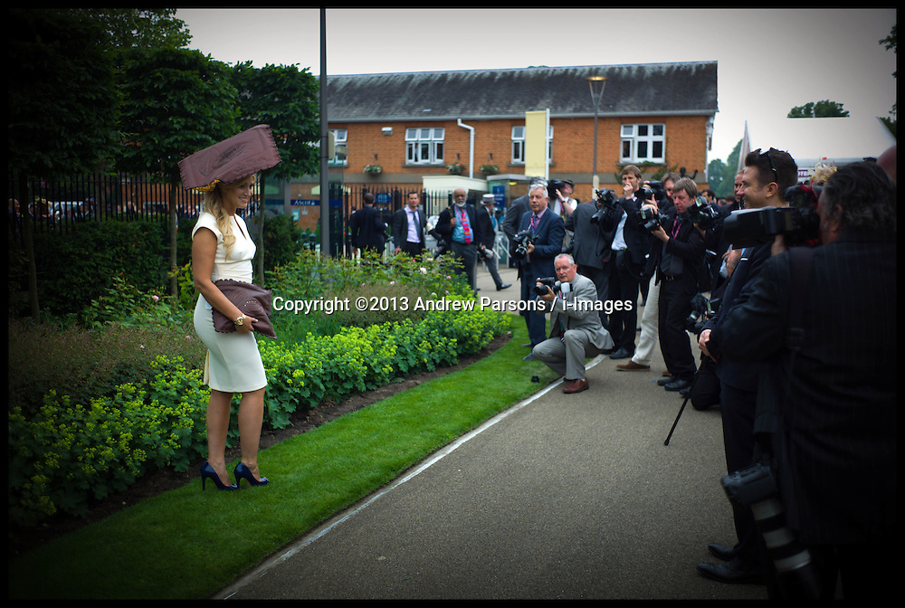 Made In Chelsea's Cheska Hull  attends Ladies Day at Royal Ascot 2013 Ascot, United Kingdom,<br /> Thursday, 20th June 2013<br /> Picture by Andrew Parsons / i-Images