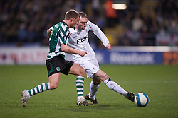 BOLTON, ENGLAND - Thursday, March 6, 2008: Bolton Wanderers' Nicholas Hunt in action against Sporting Clube de Portugal during the UEFA Cup Round of 16 1st Leg match at the Reebok Stadium. (Pic by David Rawcliffe/Propaganda)