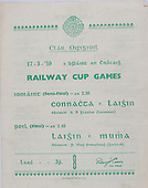 17.03.1959 Interprovincial Railway Cup Hurling Final [B69]