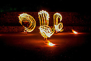 juggling with fire pois night shot