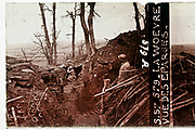 WW1 trenches with soldiers on the lookout at Eparges